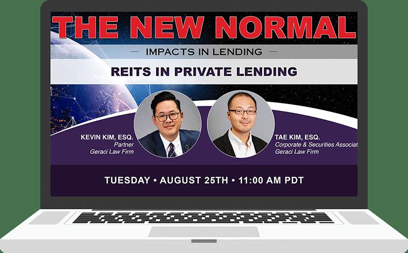 geraci law firm webinar private lending reit